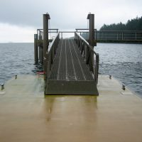 Tinted Concrete Float w/Epoxy Painted Gangway