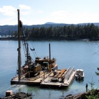 Rotary Drilling in the Gulf Islands